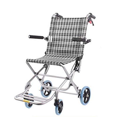 Cajolg Rollstuhl Faltbar,Ultraleichte Aluminiumlegierung hohe tragfähigkeit Erwachsene Rollstühle,Rollator Faltbar Leichtgewicht,D