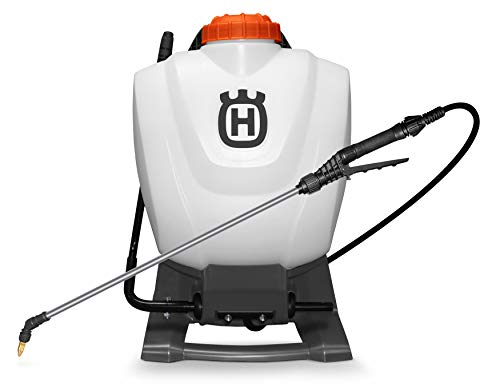​​Husqvarna Sprayers, 4 Gallon Backpack, Orange/Gray