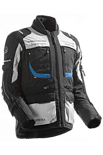 Dane REYKHOLT GORE-TEX Motorradjacke Farbe schwarz/blau/hellgrau, Größe 54