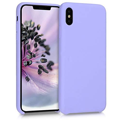 kwmobile Hülle kompatibel mit Apple iPhone XS Max - Handyhülle gummiert - Handy Hülle in Lavendel