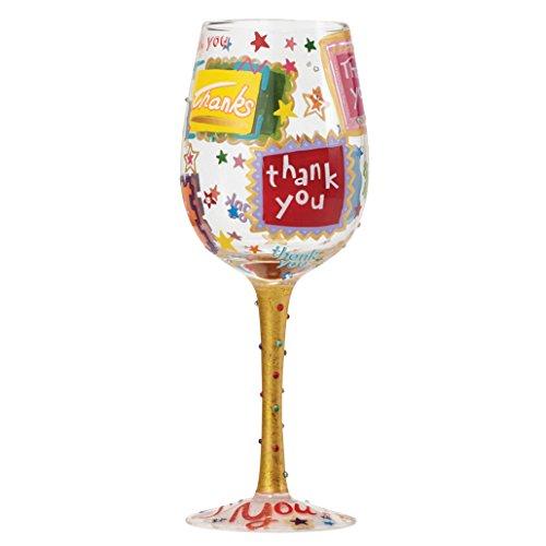 Lolita 4053101 Thank You Wine Glass, Glas, mehrfarbig, 8.5 x 8.5 x 22.5 cm