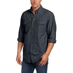 Carhartt Men's Lightweight Chambray Button Front Relaxed Fit  Shirt