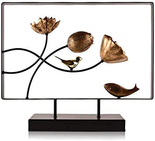 JYHF Ornaments Escultura moderna decoración del hogar entrada TV soporte soporte expositor creativo diseño creativo (diseño, B), A (color: A) (color: A)