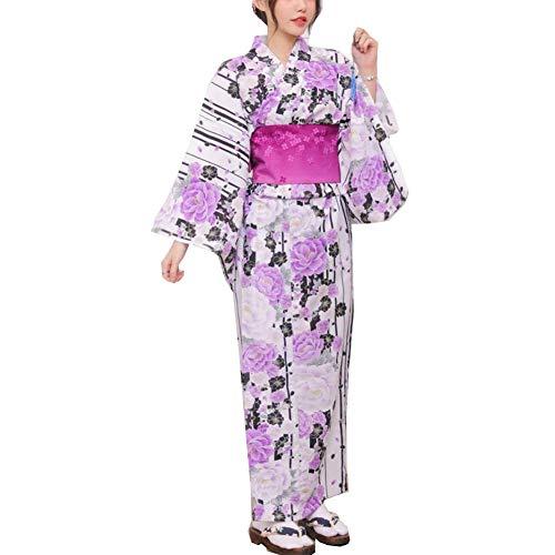 ZLININ Y-Longhair Wonmens japanische Yukata japanischer Kimono-Startseite Robe...
