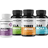 Endurance Training Stack (4 Supplement Bundle) by Crazy Muscle: Outwork Your Competition - Muscular Growth Stacks & Bundles Can Be Used PreWorkout/Post Workout for Men and Women - 390 Pills Pack