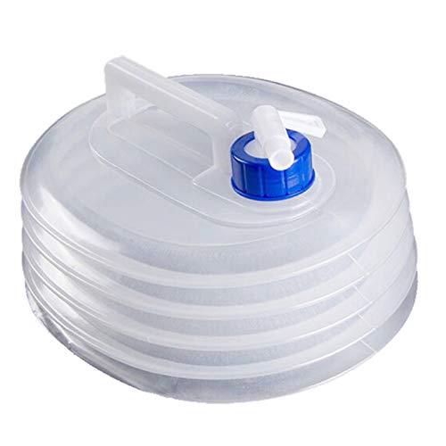 Abset Juego de bidón de agua plegable, ovalado, asa, bidón plegable para camping, sin BPA, apto para alimentos, 3 L