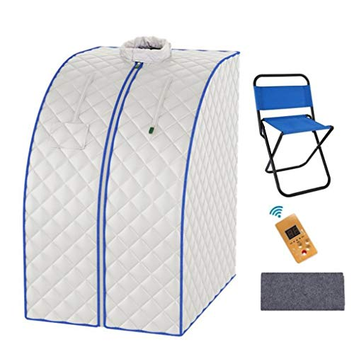 JLFSDB Far Infrared Sauna Box Steam Sauna Tent Portable Spa Steamer Home Full Body Slimming Folding Detox Therapy Sauna Cabin With A Chair