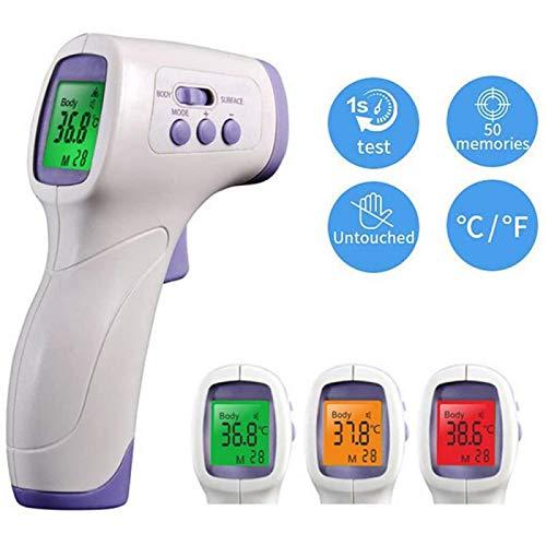 Termómetro Infrarrojo, Termómetro Digital, Termómetro Frente con Pantalla LCD, Alarma de Fiebre,Conversión ℃ / ℉ para Bebés, Niños, Adultos, Comida