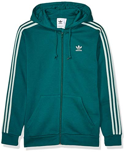 adidas Originals Herren 3-Stripes Full-Zip Sweatshirt Jacke, edles Grün/dampfgrün, X-Small