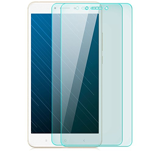 zanasta 2 Stück Bildschirmschutz Folie kompatibel mit Xiaomi Mi Max 2 Bildschirmschutzfolie aus gehärtetem Glas Schutzglas Glasfolie Schutzfolie | HD Klar Transparent