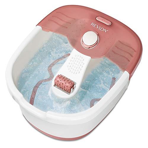 Revlon Pediprep - Bañera de hidromasaje para pies, Set de spa y pedicura, con nueve accesorios