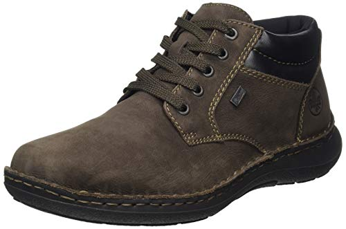 Rieker Herren 3011 Klassische Stiefel, Braun (Testadimoro/Schwarz 25), 42 EU