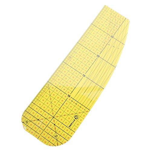 XUNXI Regla de Costura Regla de Planchado en Caliente Parche Sastre artesanía Suministros de Costura de Bricolaje medición