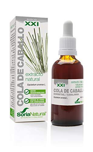 Soria Natural - EXTRACTO DE COLA DE CABALLO S. XXI - Extracto Natural - Fuerza uñas y cabello y disminuye retención de líquidos - 50 ml - Equisetum arvense (PACK1)