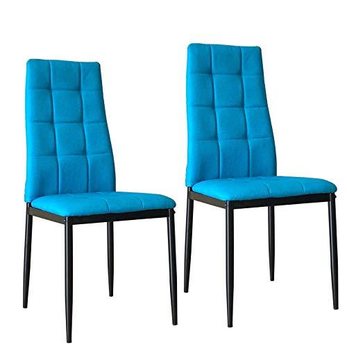 HTI-Line Stuhl Memphis 2er Set Blau
