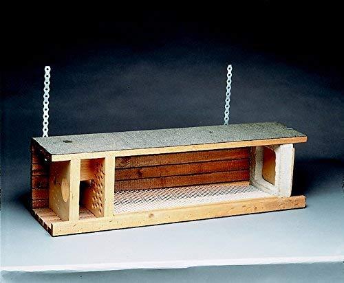 Naturschutzprodukt Steinkauz Nistkasten Nisthöhle Steinkauzröhre Typ 21 Flugloch Durchmesser 65 mm mit Marderschutz aus Holzbeton Länge 83 cm