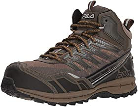 Fila Men's Hail Storm 3 Mid Composite Toe Trail Work Shoes Hiking, Walnut/Major Brown/Gold Fusion, 11 D US