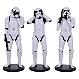 Nemesis Now Original Stormtrooper Three Wise Sci-Fi Figurinas, Blanco, 14 cm