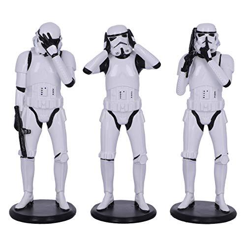 Nemesis Now Original Stormtrooper Three Wise Sci-Fi Figuren, weiß, 14 cm