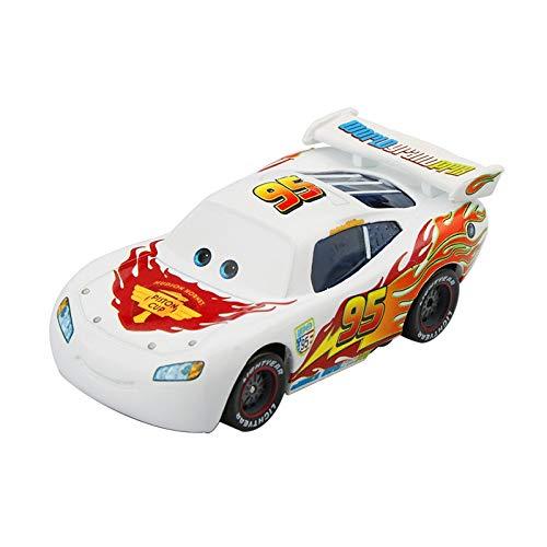 HLRY Pixar Cars 2 3 Fabuloso Regalo de Plata Rayo Mcqueen Modelo SUV 1:55 Diecast aleación del Metal del cumpleaños del Coche de los Juguetes for el Cabrito Boy (Color : Mcqueen White)