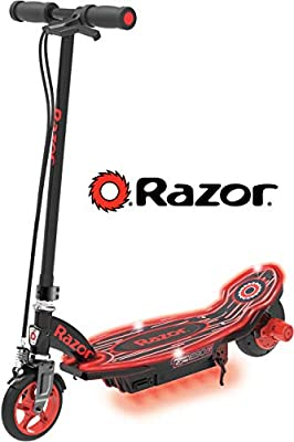 Razor Power Core E90 Glow Electric Scooter - Black/Red Glow - FFP