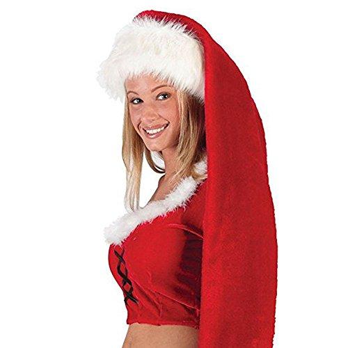 Amphia Weihnachtsmütze - Extra Lange Erwachsene Weihnachtsmütze - Frohe Weihnachten Unisex Lange Party Weihnachtsmann Hüte Party Requisiten