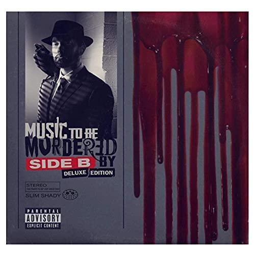 wzgsffs Eminem (Music To Be Murdered by - Side B) 2020 Póster De Portada De Álbum E Impresiones Arte De La Pared Decoración del Dormitorio del Hogar-24 X 24 Pulgadas X 1 Sin Marco