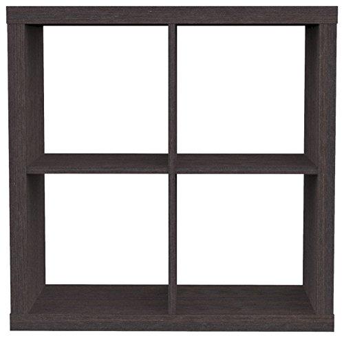 Furniture 247 Regaleinheit mit 2 Ebenen (4 Würfel) - Schwarze Eiche (Black Oak)