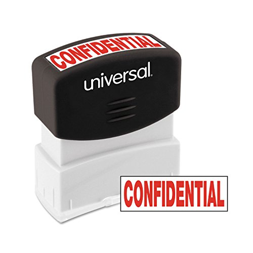 Universal 10046 Message Stamp, Confidential, Pre-Inked One-Color, Red