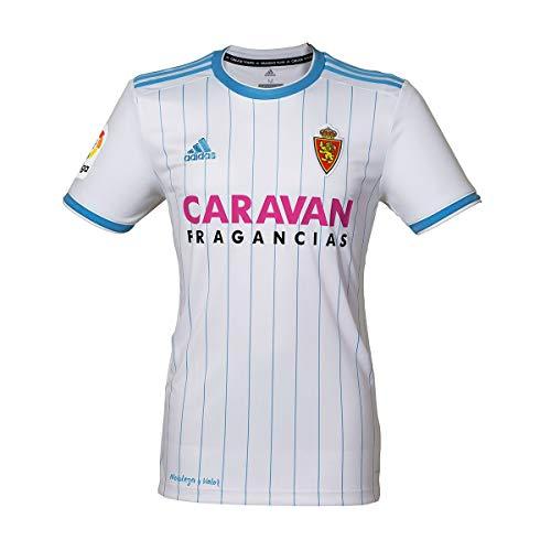 adidas Real Zaragoza Primera Equipación 2018-2019, Camiseta, White-Light Blue, Talla XL