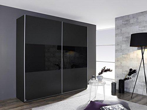 moebel-fhs Schwebetürenschrank LORIGA Breite 175 cm grau-metallic/schwarz