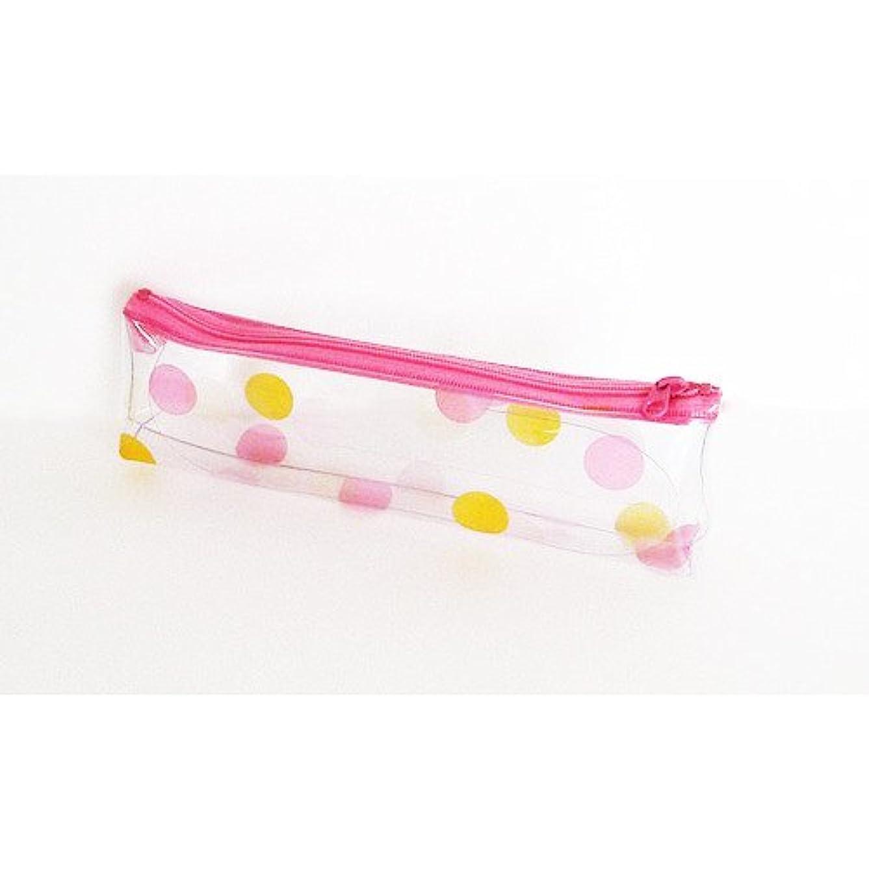 更新柔らかい上昇キャンディカラーポーチ S 水玉ピンク