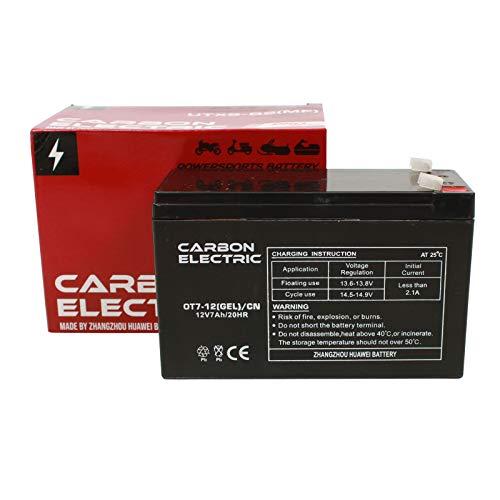 Carbon Electric accu USV 12V 7Ah loodgel CN AGM UPS Solar noodstroom E-Bike 12 volt