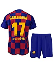 FCB Conjunto Camiseta y Pantalón Primera Equipación Infantil Griezmann del FC Barcelona Producto Oficial Licenciado Temporada 2019-2020 Color Azulgrana