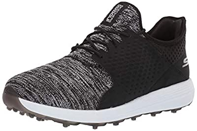 Skechers Go Golf Men's Max Rover Relaxed Fit Spikeless Golf Shoe, Black/White, 13 M US