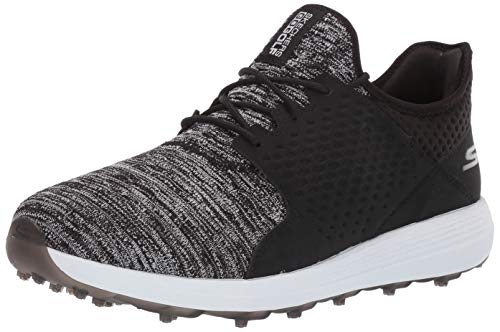 Skechers Men's Max Rover Relaxed Fit Spikeless Golf Shoe, Black/White, 10 M US