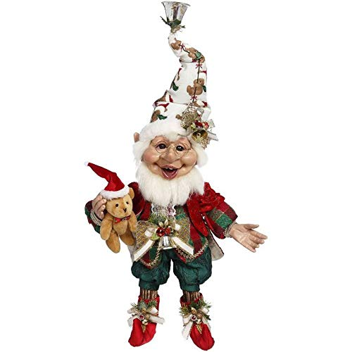 Mark Roberts 2020 Limited Edition Collection Teddybear Elf Figurine, Medium 17'' - Deluxe Christmas Decor and Collectible