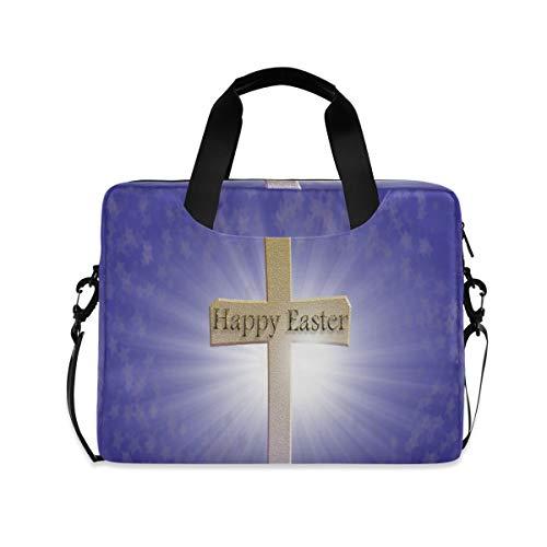 Happy Easter Cross Laptop Carrying Case Shoulder Bag...