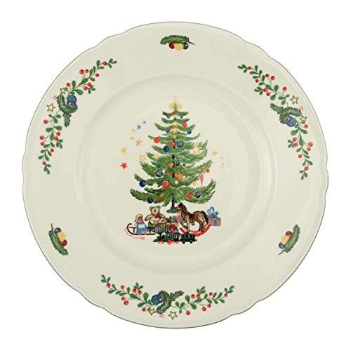 Seltmann Weiden Marieluise Weihnachten Speiseteller Rund, Grün/Bunt, 27.3 x 27.3 x 2.9 cm