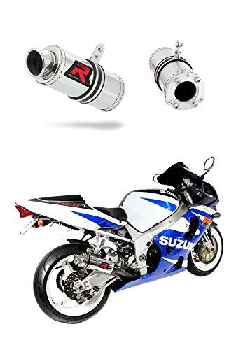 GSXR 750 K1-K5 Escape Moto Deportivo GP I Silenciador Dominator Exhaust Racing Bolt-on 2001 2002 2003 2004 2005