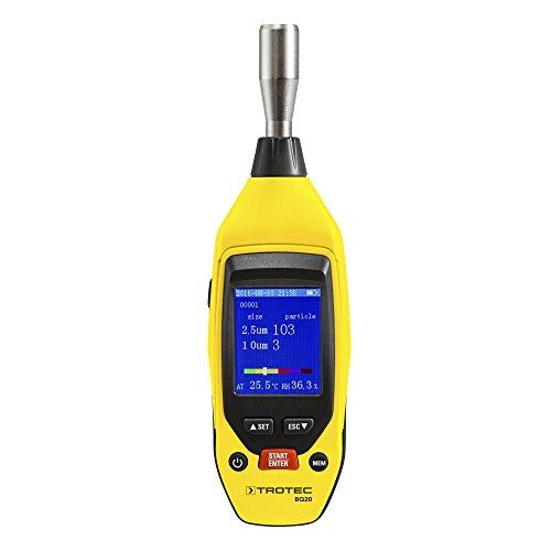 TROTEC BQ20 für Mini-Partikelmessgerät Feinstaub PM2.5, PM10, Lufttemperatur, Luftfeuchtigkeit
