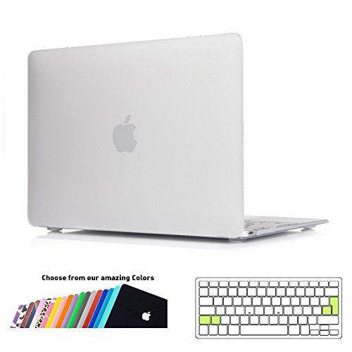 MacBook 12 Case Hülle,iNeseon Ultra Slim Plastik Hartschale Tasche Schale Cover mit EU Transparent Tastaturschutz Schutzhülle für Apple MacBook 12 Retina Modell:A1534(Frost Klar)