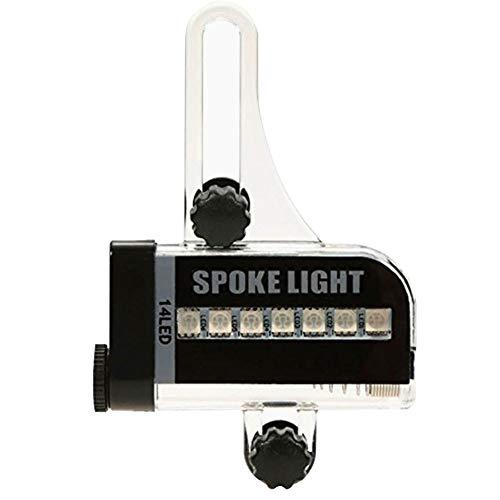 Bici habló la luz de la Bici de la Rueda de Advertencia luz de señal de neumático de Rueda de Bicicleta Enciende Dos Lados LED habló la lámpara Colorida