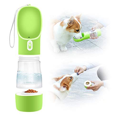 Eastlion Botella de Agua para Perros Portátil,2 en 1 Gatos Dispensador de...