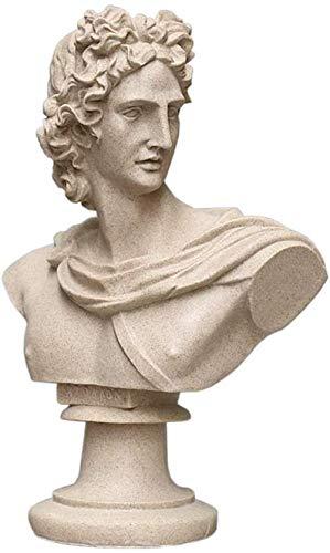 Escultura,Apollo Belvedere Busto Estatua Figura Busto Escultura Modelo Apollo Exterior A Prueba De Heladas Jardín Griego Busto Adorno Estatua Figura