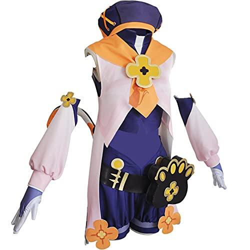 Game Anime Genshin Impact Cosplay Costume Uniform Diona Same Set for Halloween Christmas Party S White