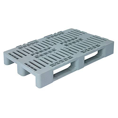 Hygienepalette H1, LxBxH 1200x800x160 mm, Oberdeck durchbrochen, 100% PE-Kunststoff, verkehrsgrau