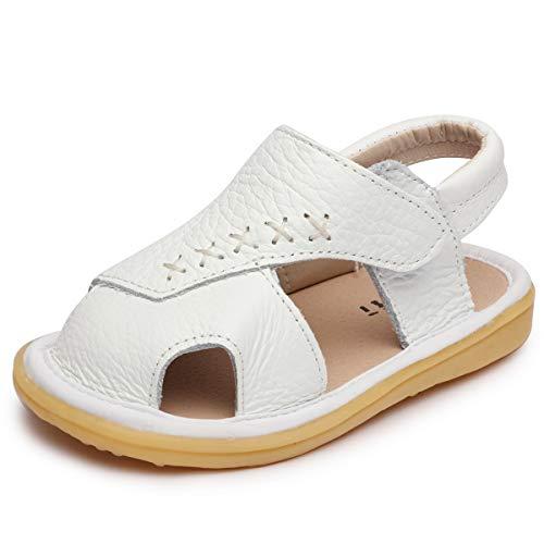 Odema Sandálias infantis para meninos e meninas para uso ao ar livre Sapatos para bebês para berço, Branco, 2.5 Infant