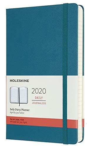 Moleskine Tageskalender, Taschenkalender, 12 Monate, 2020, Large, A5, Hard Cover, Magnetgrün
