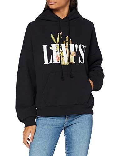 Levi's Damen Graphic 2020 Kapuzenpullover, Serif Mit Kaktus Hoodie Kaviar, S
